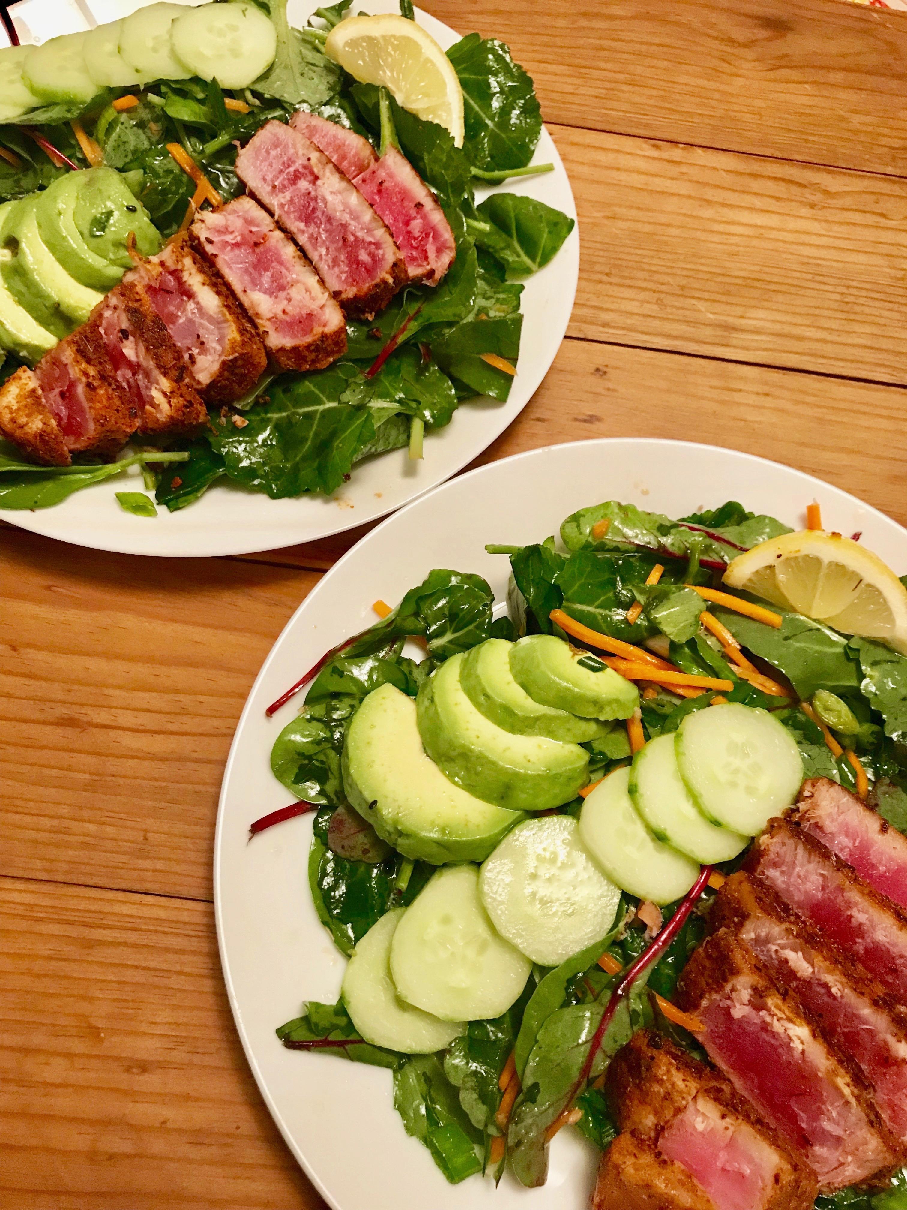 Ahi Tuna Salad with Sesame Soy Vinaigrette