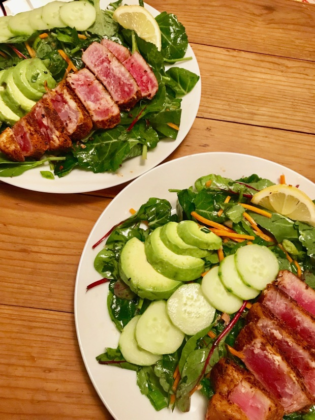 Ahi Tuna Salad with Sesame Soy Vinaigrette